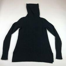 Saks Fifth Avenue Womens Black Cashmere Long Turtleneck Sweater Medium