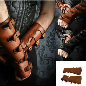 Medieval PU Men Bracer Arm Wrist Guard Wristband Arrow Bow Shooting Protecter