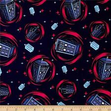 Bbc Dr. Who Comics Phone Booth 100% cotton Fabric by the yard