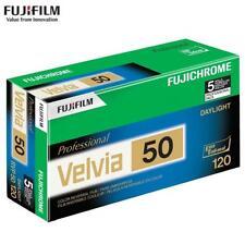 5x Fujifilm Fuji Fujichrome Pro Velvia 50 ISO Color Reversal RVP 120 Slide Film
