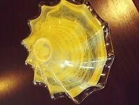 Vintage hand blown glass bowl