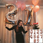 32 Inch Rose Gold 0-9 Number Foil Helium Balloons for Birthday Wedding Party