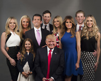 THE FAMILY OF DONALD TRUMP 8 x 10 PHOTO Picture Print Melania Ivanka Baron Jared