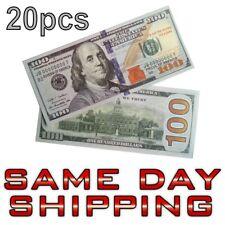 20pcs $100 Dollar Bank Note Souvenir Collectible Bill Joke Uncirculated