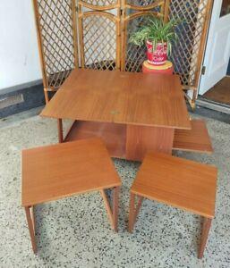 Mid Century McIntosh Triform Tristor Vintage Teak Metamorphic Coffee Tables MCM.