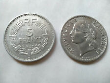 5 FRANCS LAVRILLIER ALU 1947 B BEL ETAT