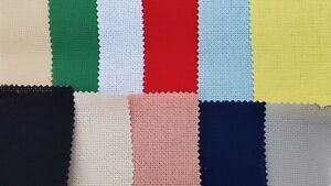 11ct/14ct/16ct/18ct Aida Cross Stitch Fabric various colours-100%Cotton FreeP&P