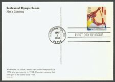 #UX245 20c Men's Canoeing, FDC **ANY 4=FREE SHIPPING**