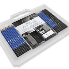 Drawing Sketching Pencils Charcoal Eraser Sharpener Starters Beginners Kit Set