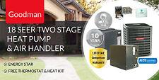 Goodman 3 Ton 2 Stage 18 Seer Complete Split System Heat Pump