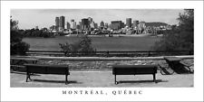 Poster Panorama Montreal Quebec Skyline Black and White Panoramic Fine Art Print