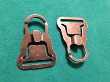 """TWO PACK - ITW M.A.S.H. (Metal All-Purpose Snap Hook) 1.25"""" Made in USA  - BLACK"""