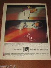 *SOCIETA' DEL LINOLEUM PAVIMENTO=1961=PUBBLICITA'=ADVERTISING=WERBUNG=PUBLICITE=