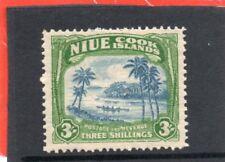 Niue GV1 1938 3s. blue & yellowish green sg 77 H.Mint