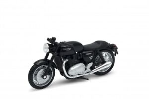 Welly 1:18 TRIUMPH Thruxton 1200 Black Motorcycle Bike Model Toy New In Box
