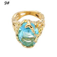 Fashion Engagement Rings Big Blue Crystal Stone Zircon Ring Bridal for Women 9