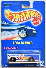 HOT WHEELS 1991 BLUE CARD 1993 CAMARO #242 LIGHT BLUE 03 W+