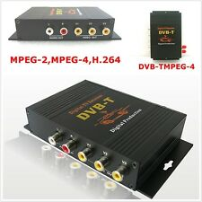 1x HD DVB-T MPEG4 TV Receiver Box Tuner Dual Antenna Car Mobile Digital TV Box