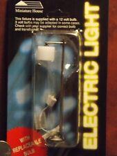 Dollhouse Miniature Electric Light Modern Floor Lamp Pewter 1:12 inch scale J9