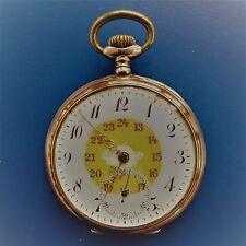 GOOD FUNCTIONING Silver (0,800) Swiss Hela - Men's Pocket Watch, ca 1920