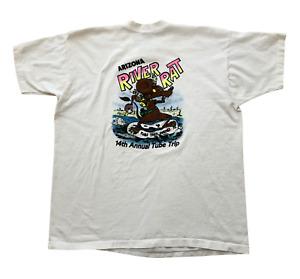 American Airlines 1993 Arizona River Rat Fink Tube Trip Vintage 90s USA T-Shirt