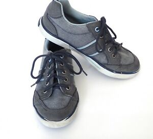 NAUTICA Boys Blue Gray Canvas Low Top Sneakers Casual Shoes size 2