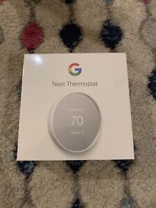 Google Nest Thermostat 2020 Release - Snow - BRAND NEW Factory Sealed! (G4CZV)
