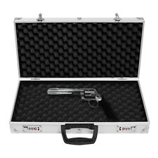 Aluminum Framed Locking Gun Pistol HandGun Lock Box Hard Storage Carry Case US V
