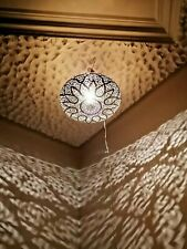 Moroccan round pendent oriental brass hanging lamp Ceiling light chandelier disc