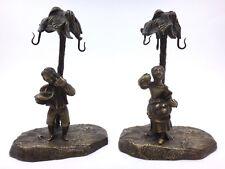 Paire de portes boucles d'oreilles  en Bronze époque XIXeme