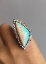 12 CARAT AUSTRALIAN OPAL DIAMOND VINTAGE RING, STUNNING