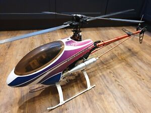 Thunder Tiger Raptor 30 RC Helicopter OS Max SX, Futaba GY502 Gyro and Servos.