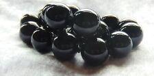 Stunning Jet Black Onyx Uniform SizeBig Bead Necklace A+++ Quality Gemstones