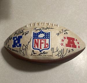 NFL Autographed Football 1960s 1970s Vikings Falcons Seahawks Tingelhoff Patera