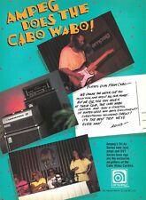 Van Halen 1990 Cabo Wabo Cantina Ampeg Amps Promo Poster Ad