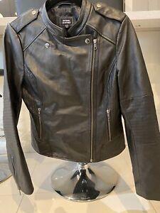 Leather Jacket Just Jeans Black Size 12
