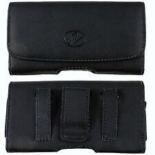 Black Magnetic Closure Leather Belt Clip Case For   Motorola Phones