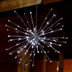 LED-Stern Lichterball 129 LED kaltweiß beleuchtet 55 cm innen Deko Weihnachten
