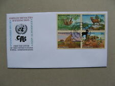 UNO UNITED NATIONS NY, cover FDC 2002, ao cat cheetah sheep reptile cactus