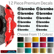 12 Decal Vinyl Stickers Fits Brembo Brake Caliper - 751 Heat Resistant - Fast!