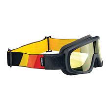 Biltwell Overland Goggle, Motorradbrille, gelb-schwarz für Jethelm, Antibeschlag