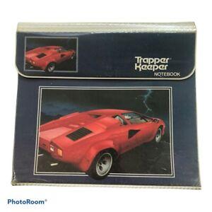 Vintage 80s The Ultimate Lamborghini Countach 29096 Original Trapper Keeper Mead