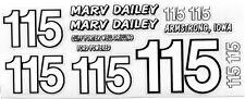 # 115 Marv Dailey Modified race car DECAL SHEET