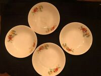 Homer Laughlin Red Poppy and Rose (Olivia) - dessert bowls