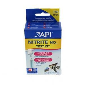 Nitrite Test Kit Fresh or Saltwater Aquarium Fish Tank API Contains 180 Tests