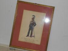Vtg. Italian Military Museum Carabiniere a Cav.1842 In Elmo Coranno Framed Print