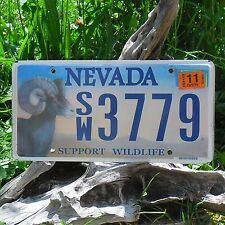 Véritable Plaque D' Immatriculation Etat du Nevada (3779)- USA - License Plate