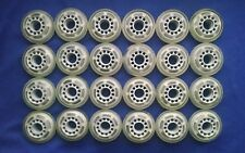 Lot of 24 Rollerblade Inline Fitness Hockey Skate Wheels 70mm 78A (Clear)