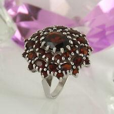 Ring in 925/- Silber mit Granat Edelsteinen - Gr. 50