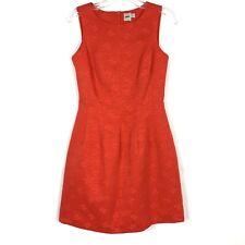 ASOS Size 4(UK Size 8) Brocade Sheath Dress Red Lined Back Zip Cotton Blend